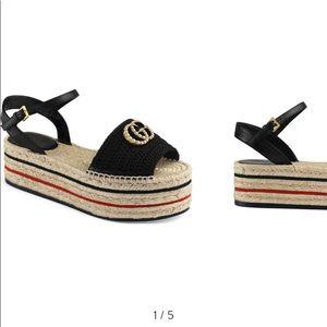 Lilibeth Platform Espadrille Sandal Gucci 💝
